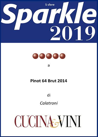 5 sfere di Sparkle 2019 per il Pinot 64 Brut