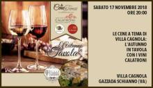 Cena Calatroni a Villa Cagnola (Gazzada Schianno, 17 novembre 2018)