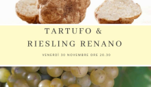 Cena tartufo e Riesling (30 novembre 2018)