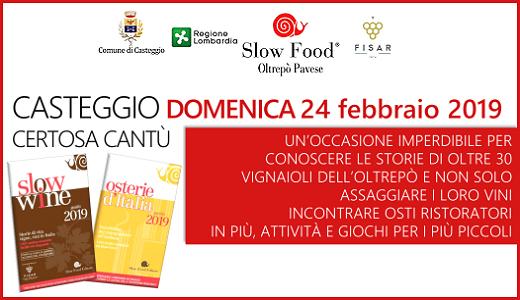 Presentation of the 2019 Slow Food guides (02/24/2019, Casteggio)