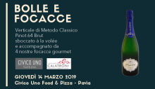 Bubbles and focaccia at Civico Uno (03/14/2019)