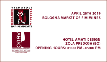 Bologna market of FIVI wines