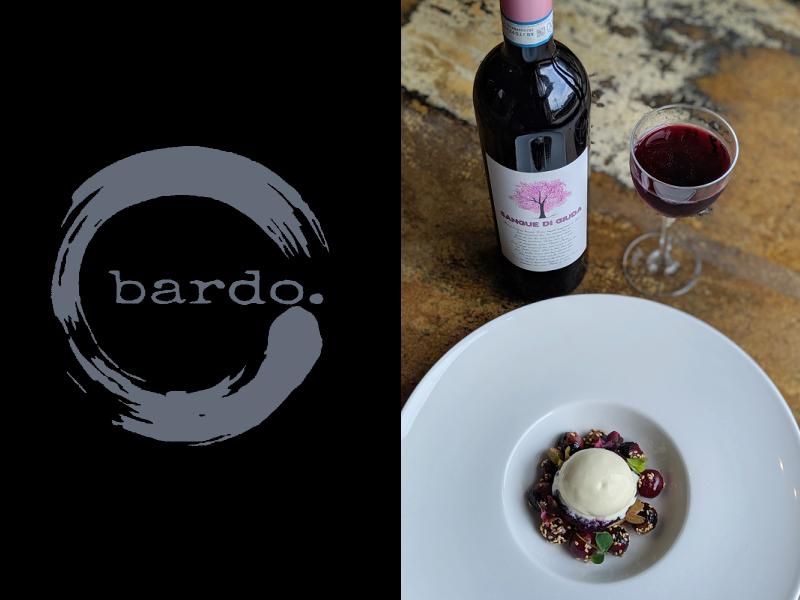 Dessert del Bardo Restaurant e Sangue di Giuda