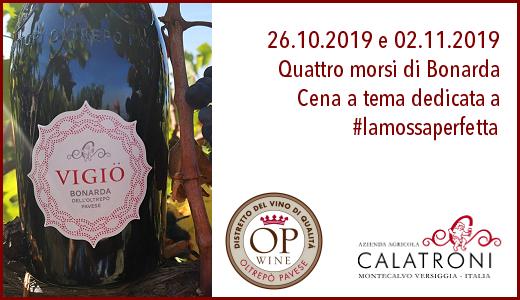 Cena per i Bonarda Days (26/10/2019 e 02/11/2019)