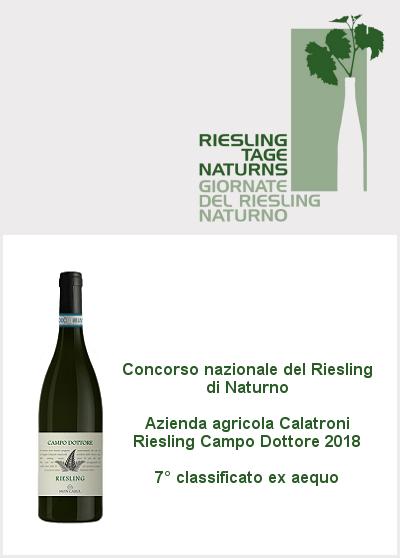Concorso nazionale Riesling Naturno 2020 - 7° classificato - Riesling Campo Dottore