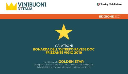 Vinibuoni d'Italia 2021 - Golden Star - Bonarda Vigiö 2019