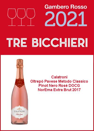 Gambero Rosso 2021 - Tre Bicchieri - NorEma Rosé 2017