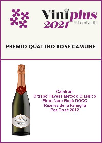AIS Lombardia Viniplus 2021 - Quattro Rose Camune - Riserva della Famiglia 2012
