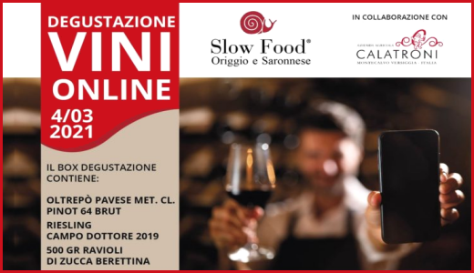Degustazione con Slow Food Origgio e Saronnese (04/03/2021)