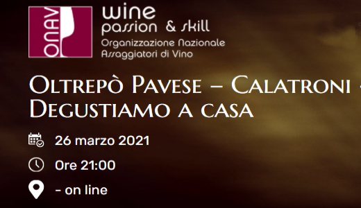 Calatroni tasting with ONAV Cremona (26/03/2021)