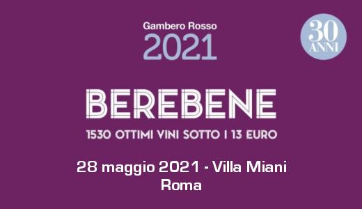 Degustazione Berebene del Gambero Rosso (28/05/2020)
