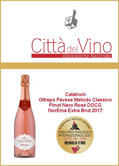 Concorso enologico Città del Vino - NorEma_Extra Brut 2017 - Medaglia d'Oro