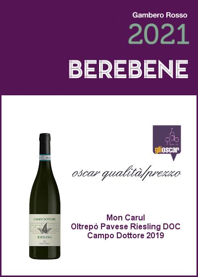 Berebene 2021 - Oscar Qualità/Prezzo - Riesling Campo Dottore 2019