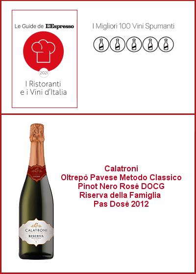Espresso 2021 - I migliori 100 spumanti d'Italia - Riserva della Famiglia Rosé 2012