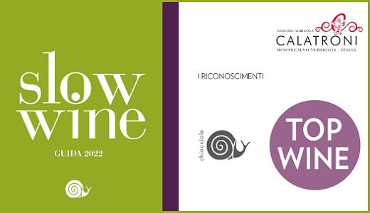 Slow Wine 2022 - Azienda agricola Calatroni - Riconoscimenti