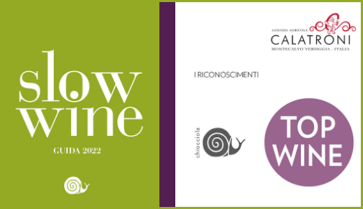Slow Wine 2022 - Calatroni winery - Awards