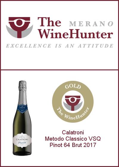 The WineHunter Award 2021 - Gold Award - Pinot 64 Brut 2017