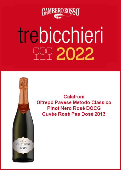 Gambero Rosso 2022 - Tre Bicchieri - Cuvée Rosé Pas Dosé 2013 - 400x558